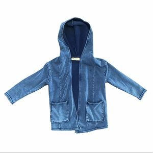 Boys blue sweatshirt cardigan jacket with hood